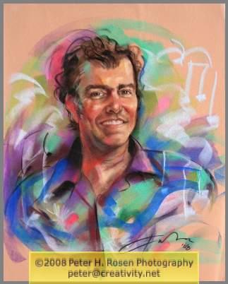 Peter H. Rosen Pastel Portrait